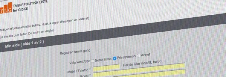 DET ER GRATIS Å VÆRE MEDLEM I TLG